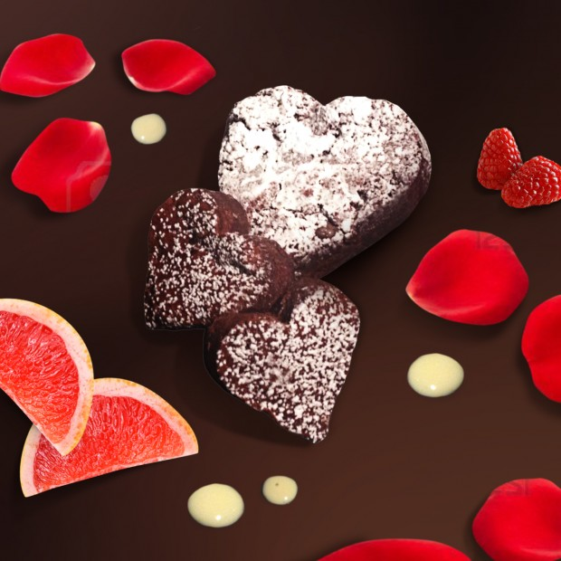 Dolce naturale per San Valentino: cioccolato e pompelmo