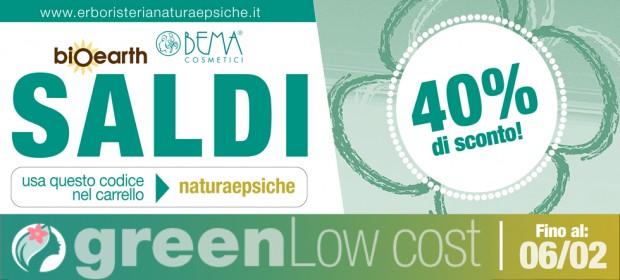 Arrivano i SALDI anche sui cosmetici Eco bio! dal 10% al 40%